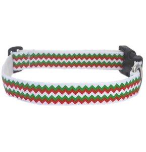 Rood/Groen Kerst Halsband 25mm