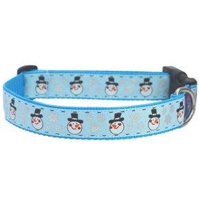 Blauw Sneeuwpop Kerst Halsband 25mm
