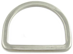 RVS D-ring 15mm x 12mm, roestvrijstaal
