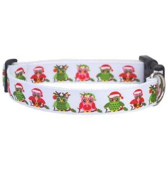 Holiday Hoots Christmas Dog collar 25mm