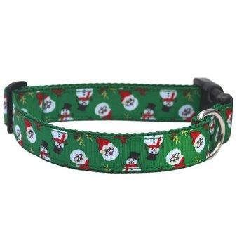 Green Santa Christmas Dog collar 25mm
