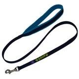 Fleece handle dog leash with name_