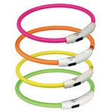 Trixie lichtgevende halsband - USB oplaadbaar - Geel_