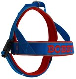 Neoprene dog harness with name 25mm_