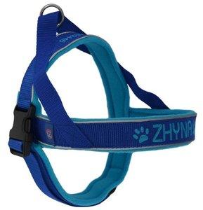 Fleece dog harness with name 30mm