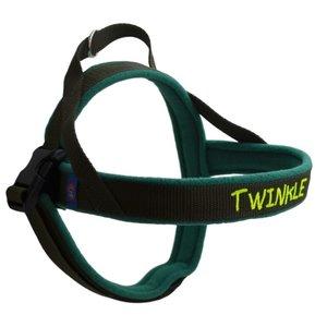 Fleece dog harness with name 20mm