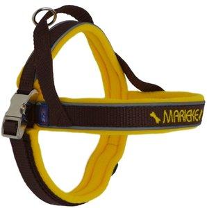 Fleece dog harness with name 15mm