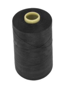 Zwart extra sterk naaigaren 1000m dikte 40