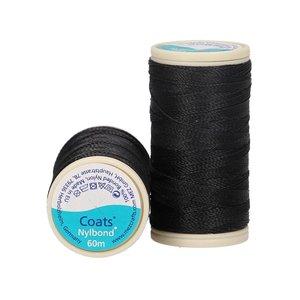 Nylbond - Zwart extra sterk, elastisch naaigaren kleur 1000