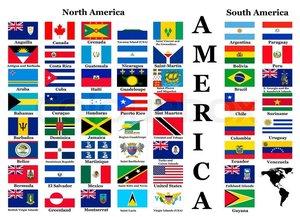 Halsband met Vlag Noord/Zuid Amerika 25mm