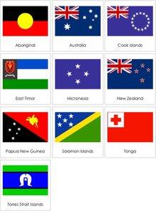 Halsband met Vlag Australië 25mm