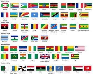 Halsband met Vlag Afrikaans Land 25mm