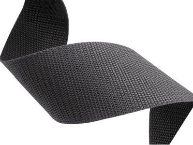 10m Tassenband 50mm breed - antraciet - PP