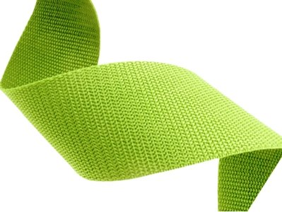 10m Tassenband 50mm breed - lime - PP