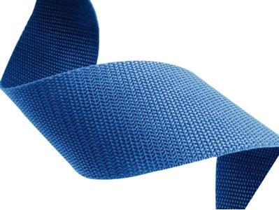 10m Tassenband 40mm breed - blauw - PP