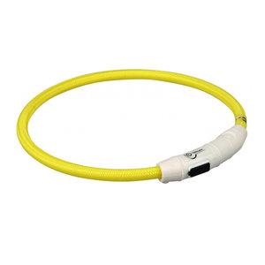 Trixie lichtgevende halsband - USB oplaadbaar - Geel