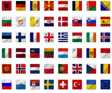 Halsband met Vlag Europees Land 25mm